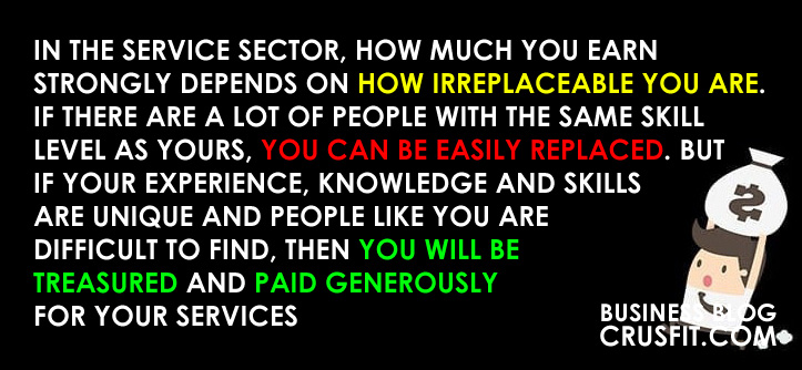 what helps you to earn on services